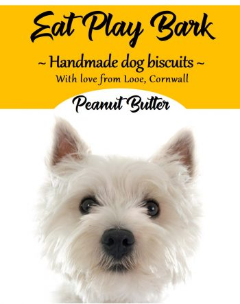 Cornish Dog Biscuits Eddie Medium Pot Label